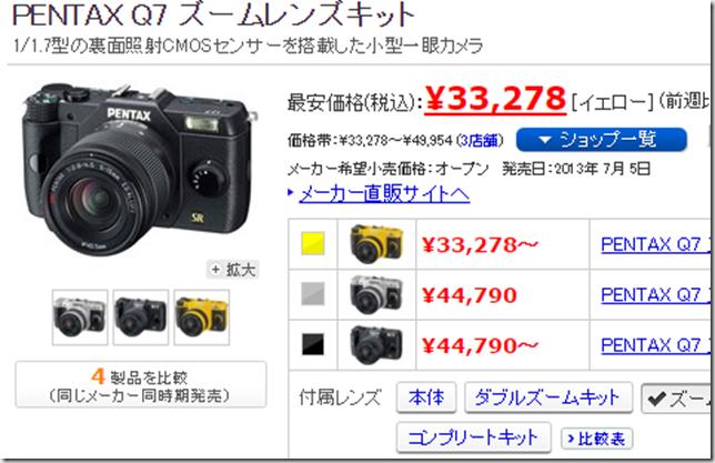 ヨドバシカメラ一眼レフ福袋2016年版の中身予想 Q7ズームキット