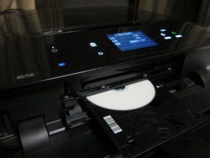 プリンタのレーベル印刷