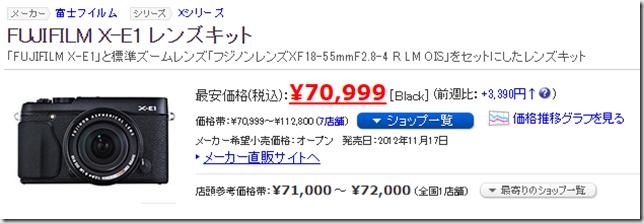 ヨドバシカメラ一眼レフ福袋2016年版の中身予想 X-E1レンズキット