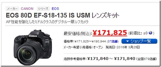 EOS 80Dのレンズキットの価格002