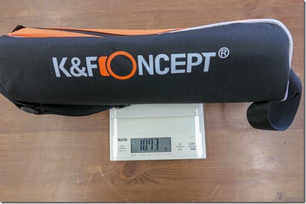 K&Fconceptのカーボン三脚レビューの画像